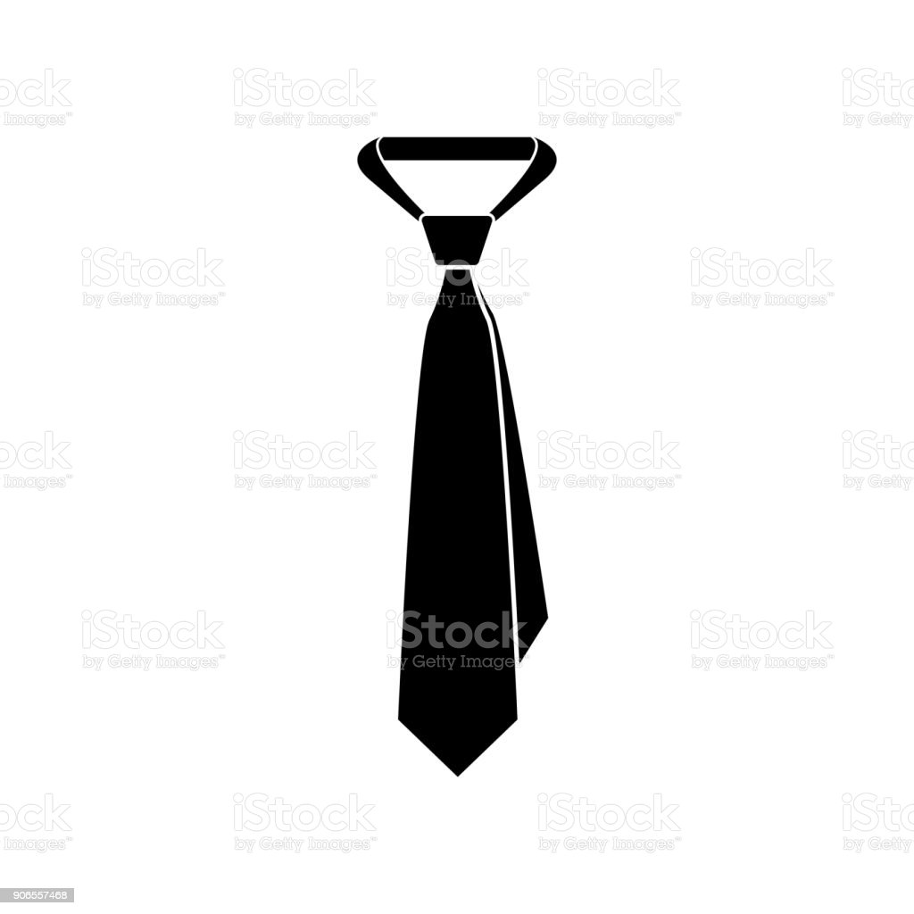 Tie icon vector art illustration