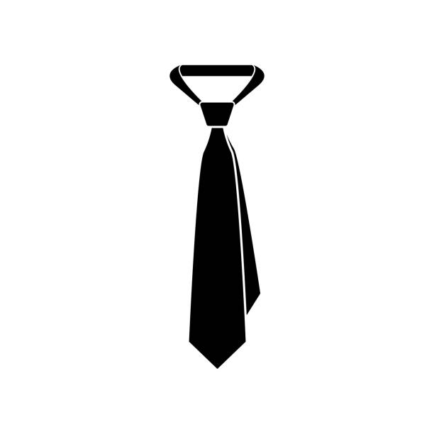 tie icon - tie stock illustrations, clip art, cartoons, & icons