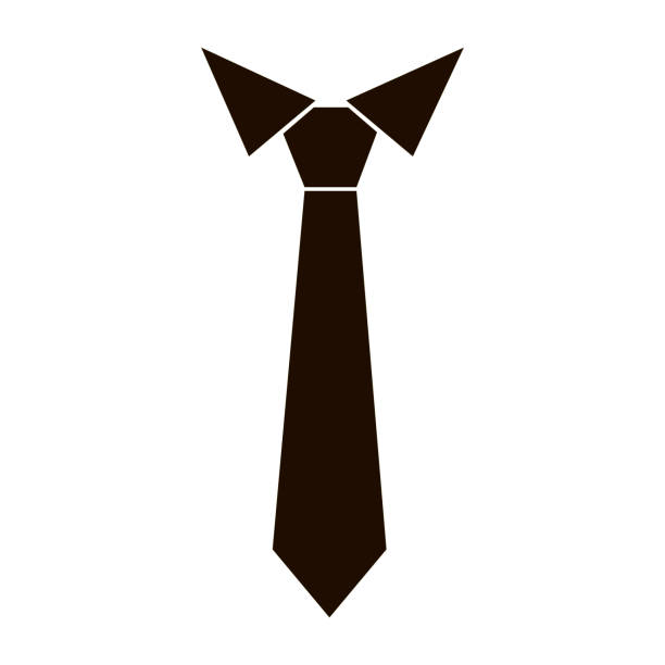 tie icon vector - tie stock illustrations, clip art, cartoons, & icons