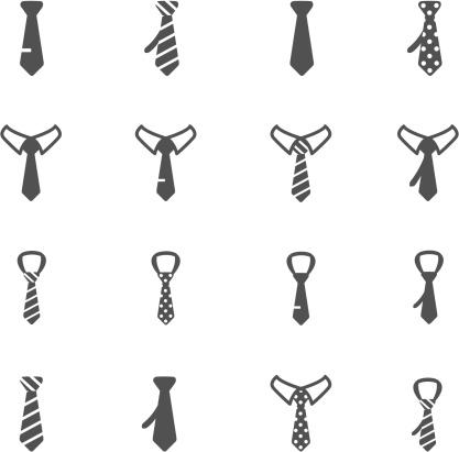 Tie Icons vector art illustration