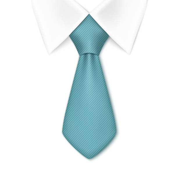 tie isolated on white background. - mens fashion stock illustrations, clip art, cartoons, & icons