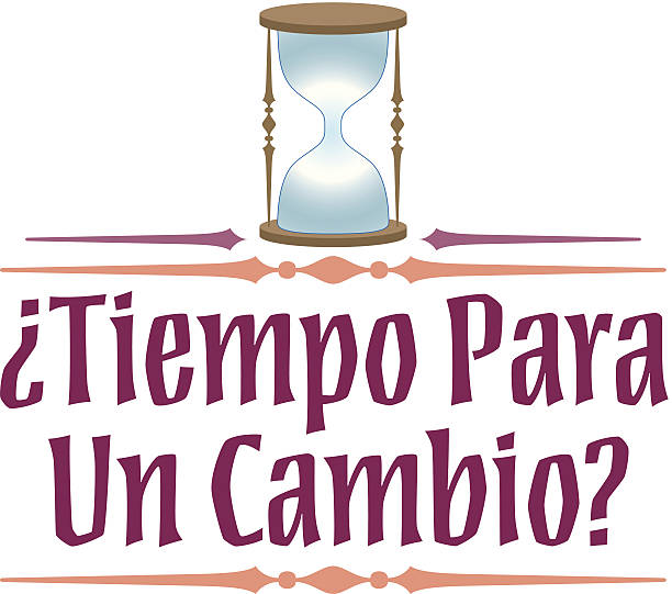 Tiempo Cambio Heading C Tiempo Cambio Heading C tiempo stock illustrations