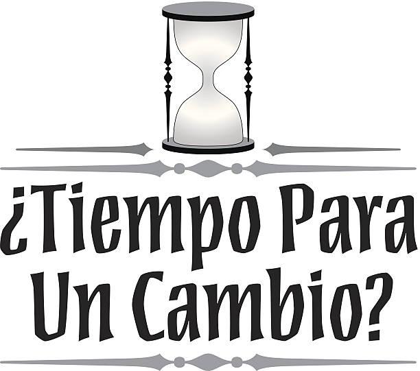 Tiempo Cambio Heading Tiempo Cambio Heading tiempo stock illustrations