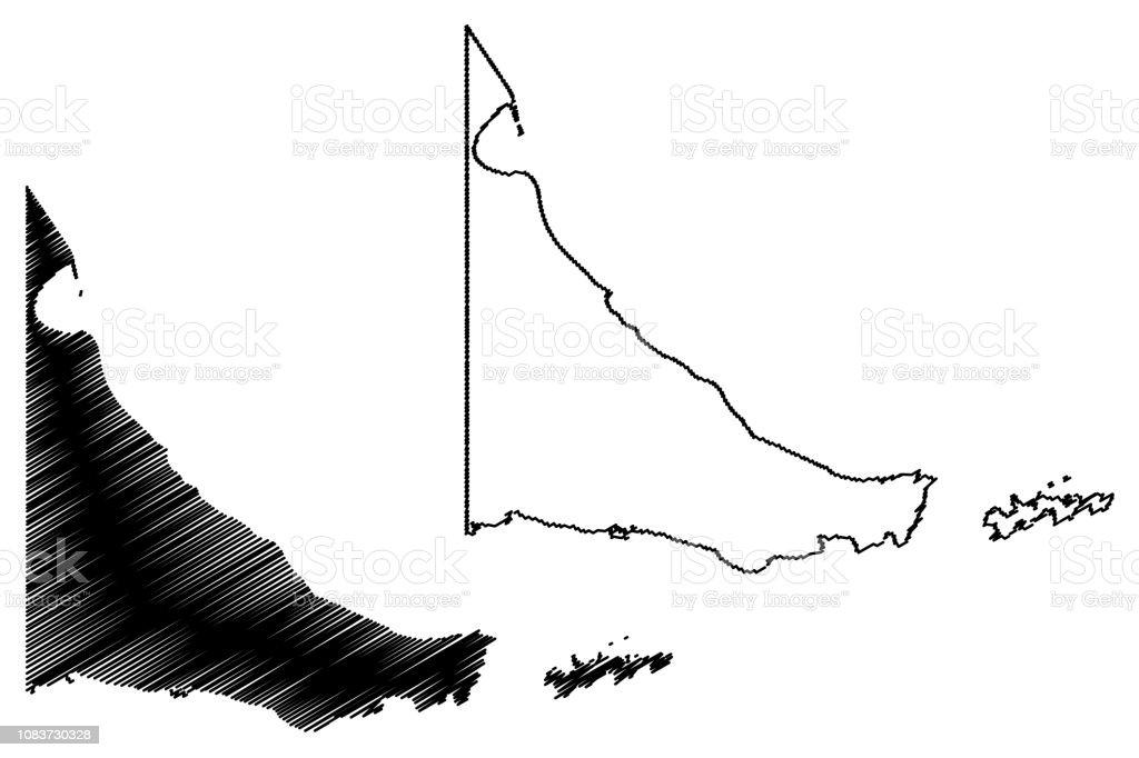 Tierra del Fuego map vector
