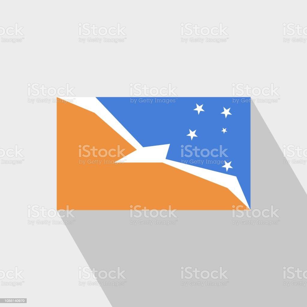 Tierra del Fuego province Argentina flag Long Shadow design vector