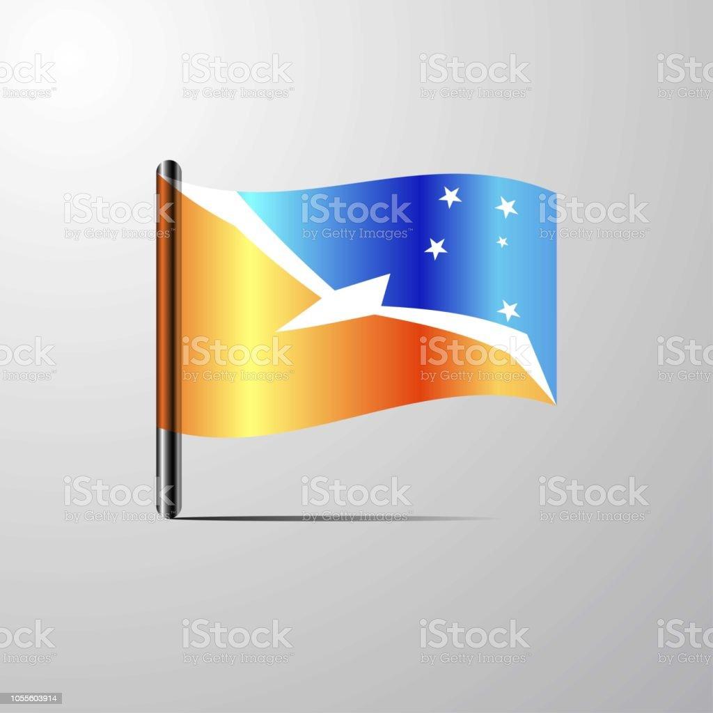 Tierra del Fuego province Argentina waving Shiny Flag design vector