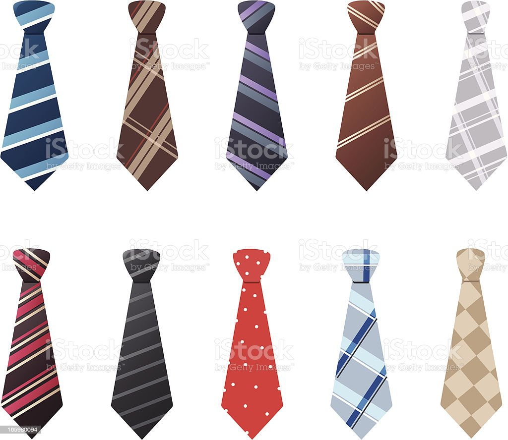 Ties vector art illustration