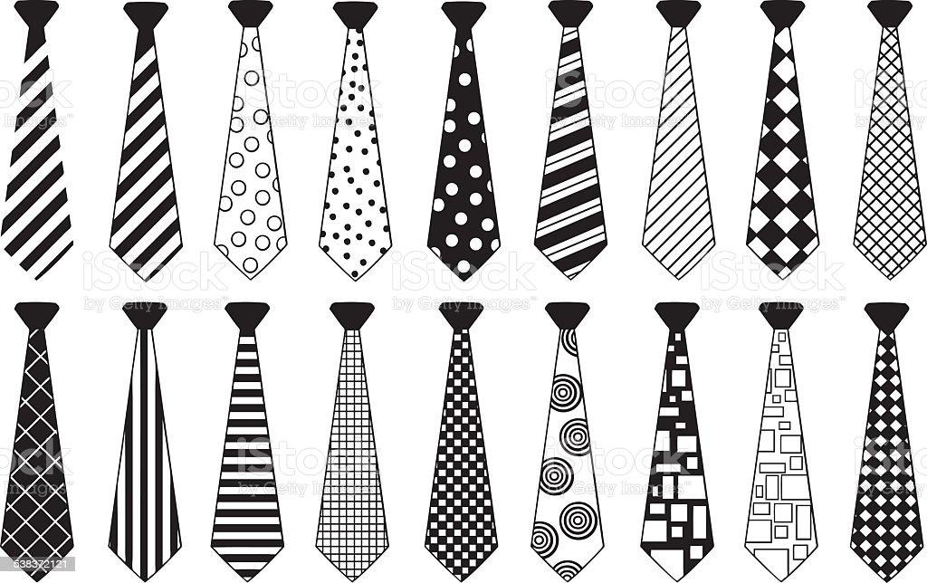 ties vector art illustration