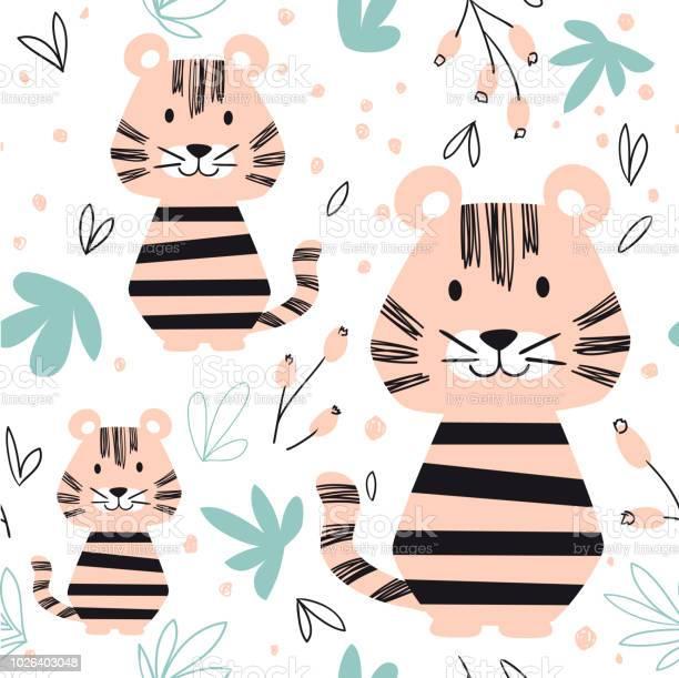 Tiger baby seamless pattern scandinavian cute print vector id1026403048?b=1&k=6&m=1026403048&s=612x612&h=ydzdzow ccxohalswj452 ua1kofg7ti4iyxysnizpc=
