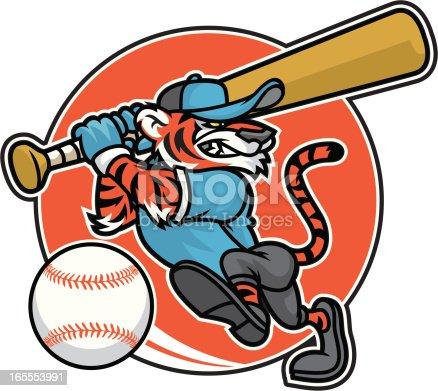 Tiger baseball design