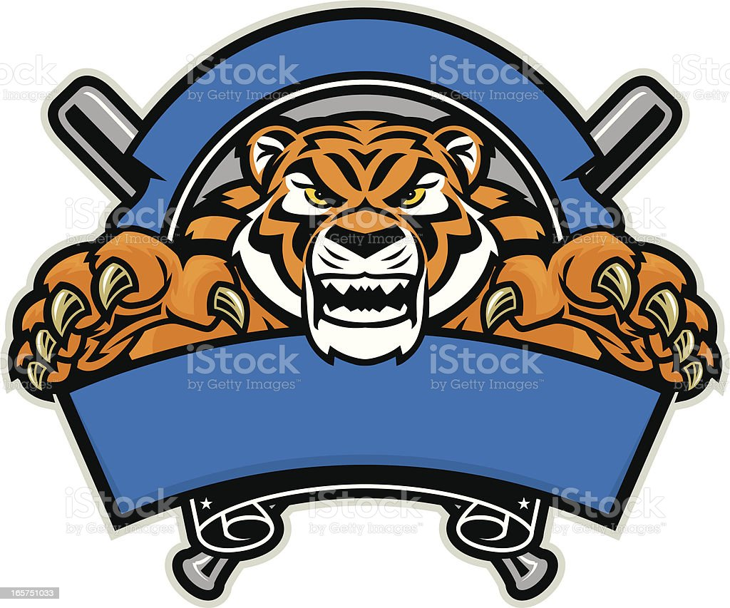 Tiger Baseball Design royalty-free stock vector art