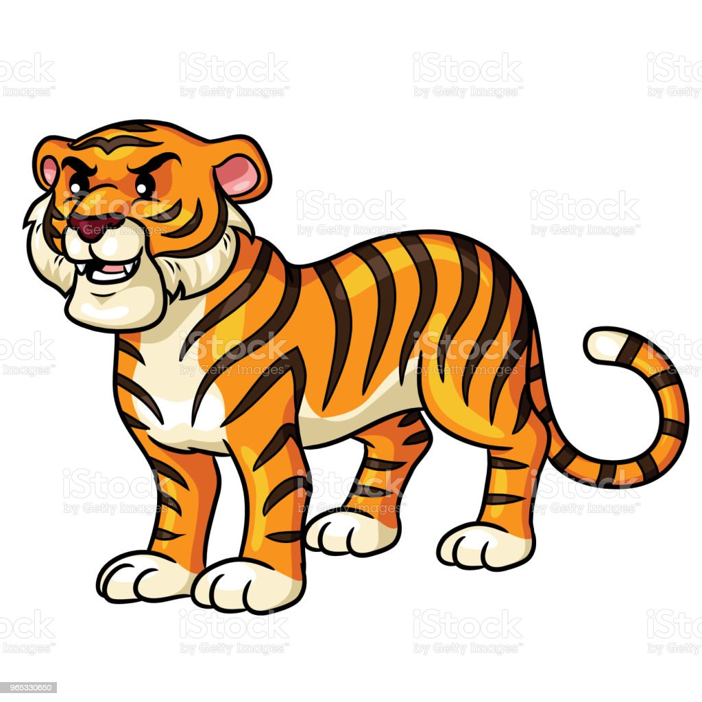 Tiger Cartoon Cute royalty-free tiger cartoon cute stock illustration - download image now