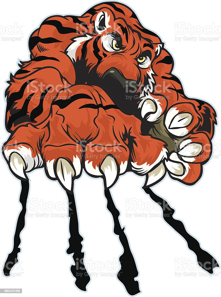 Tiger Claw royalty-free tiger claw stock vector art & more images of aggression