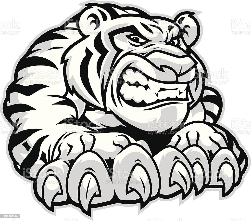 Tiger Claws vector art illustration