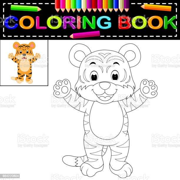 Tiger coloring book vector id934220804?b=1&k=6&m=934220804&s=612x612&h=6hhrqvm8 cyjxhodkhycd2kpucepfnstflw4zszis4u=