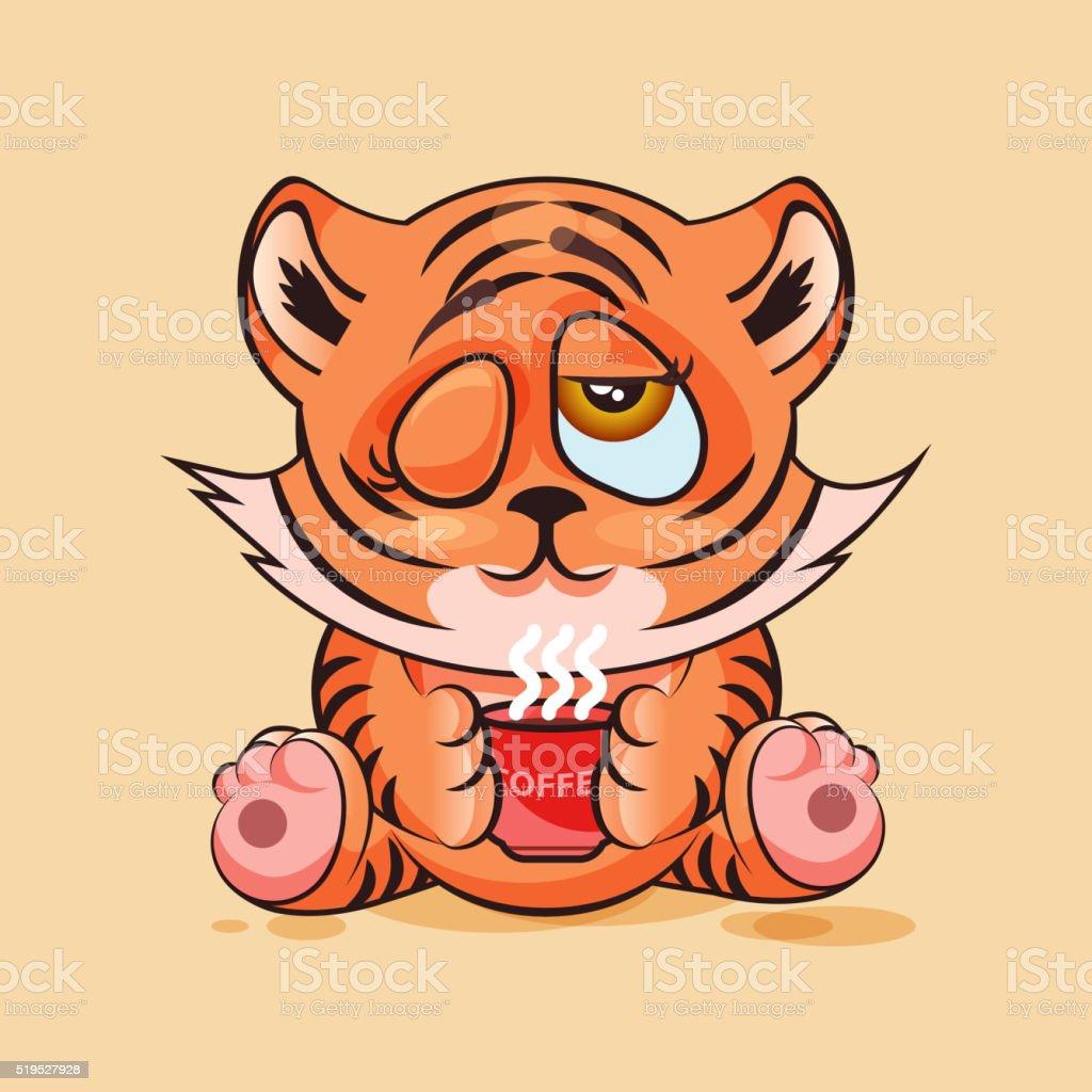 Tiger Jungtier Guten Morgen Stock Vektor Art Und Mehr Bilder