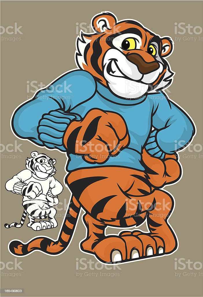 Tiger Cub Kid royalty-free stock vector art