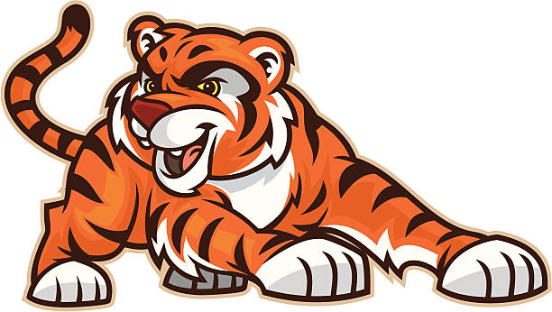 tiger cub - tiger stock illustrations, clip art, cartoons, & icons
