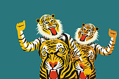 Tiger dance of the Onam festival in Kerala, India