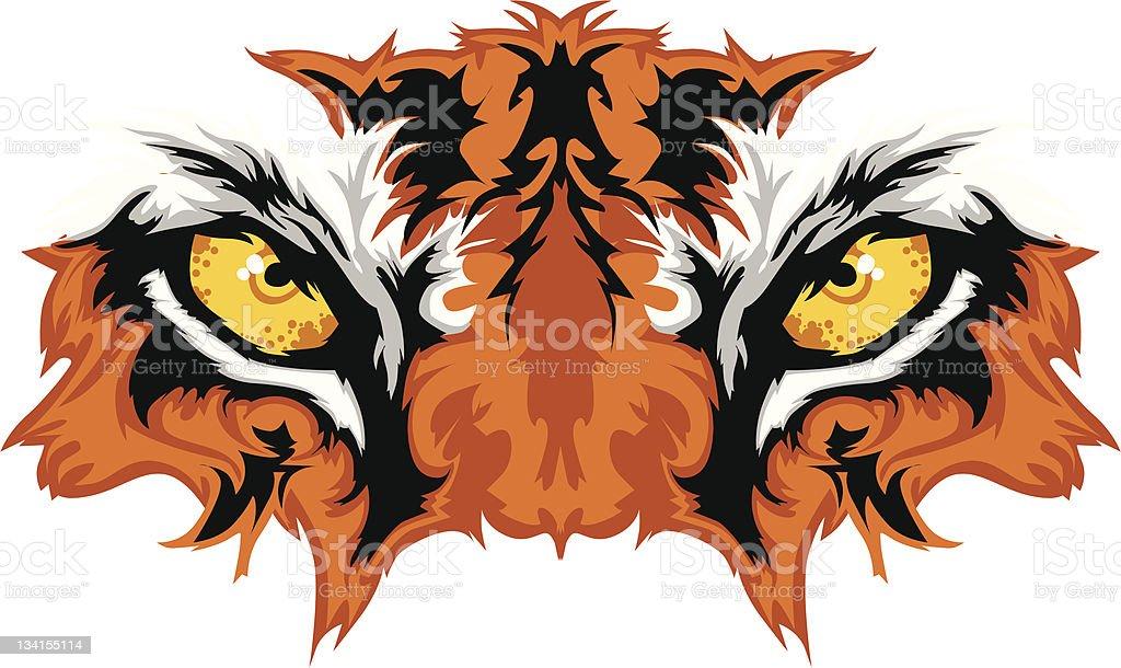 Tiger Eyes Mascot Graphic vector art illustration