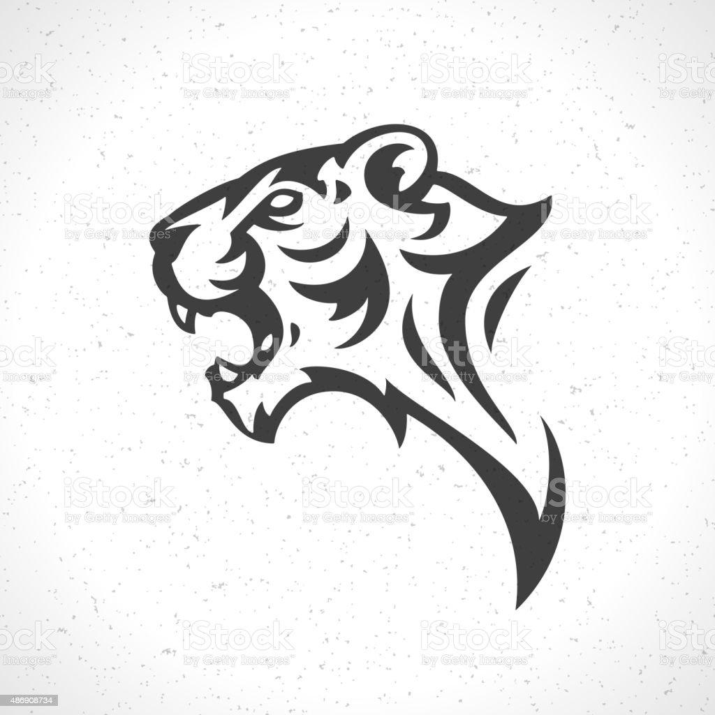 Extrêmement Tête De Tigre Mascotte Symbole Emblème Du Logo Modèle Stock  VF95