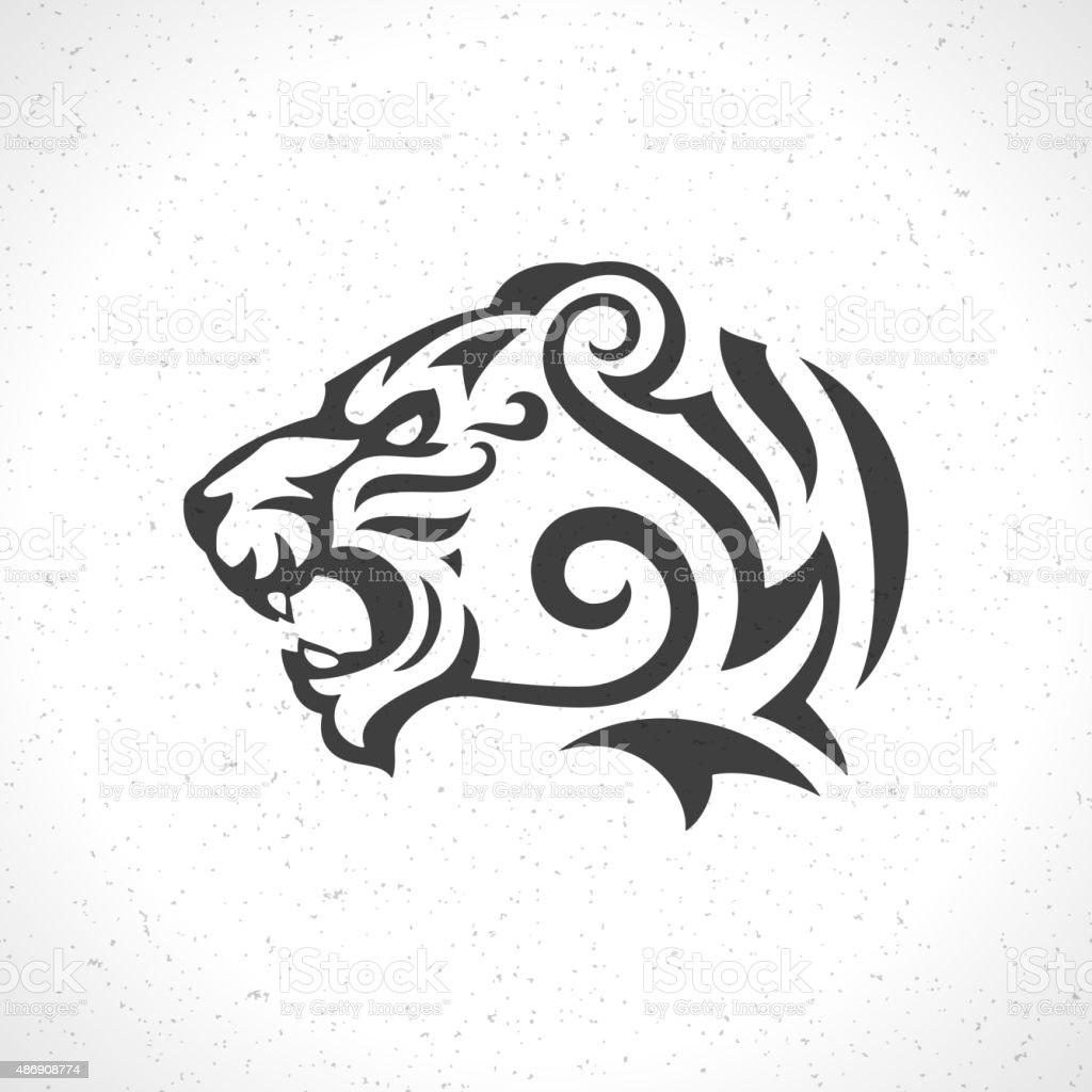Souvent Tête De Tigre Mascotte Symbole Emblème Du Logo Modèle Stock  WB01