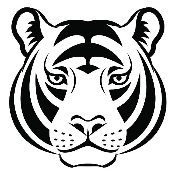 Simple Tiger Tattoo Silhouette Illustrations Royalty Free Vector