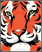This Tiger face is clean and ready to use. Great for any design or logo.