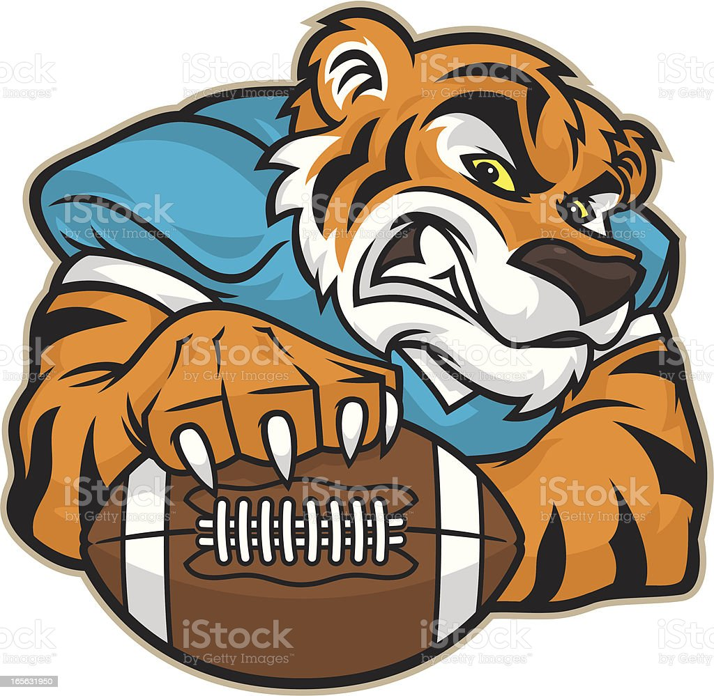 Tiger Football Mascot royalty-free tiger football mascot stock vector art & more images of american football - ball