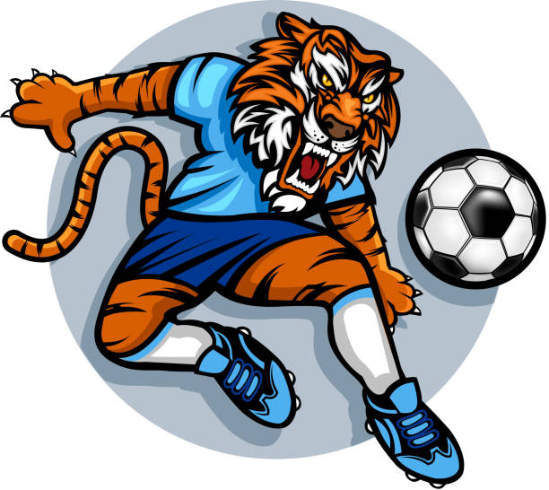 Royalty Free Tiger Running Clip Art, Vector Images ...