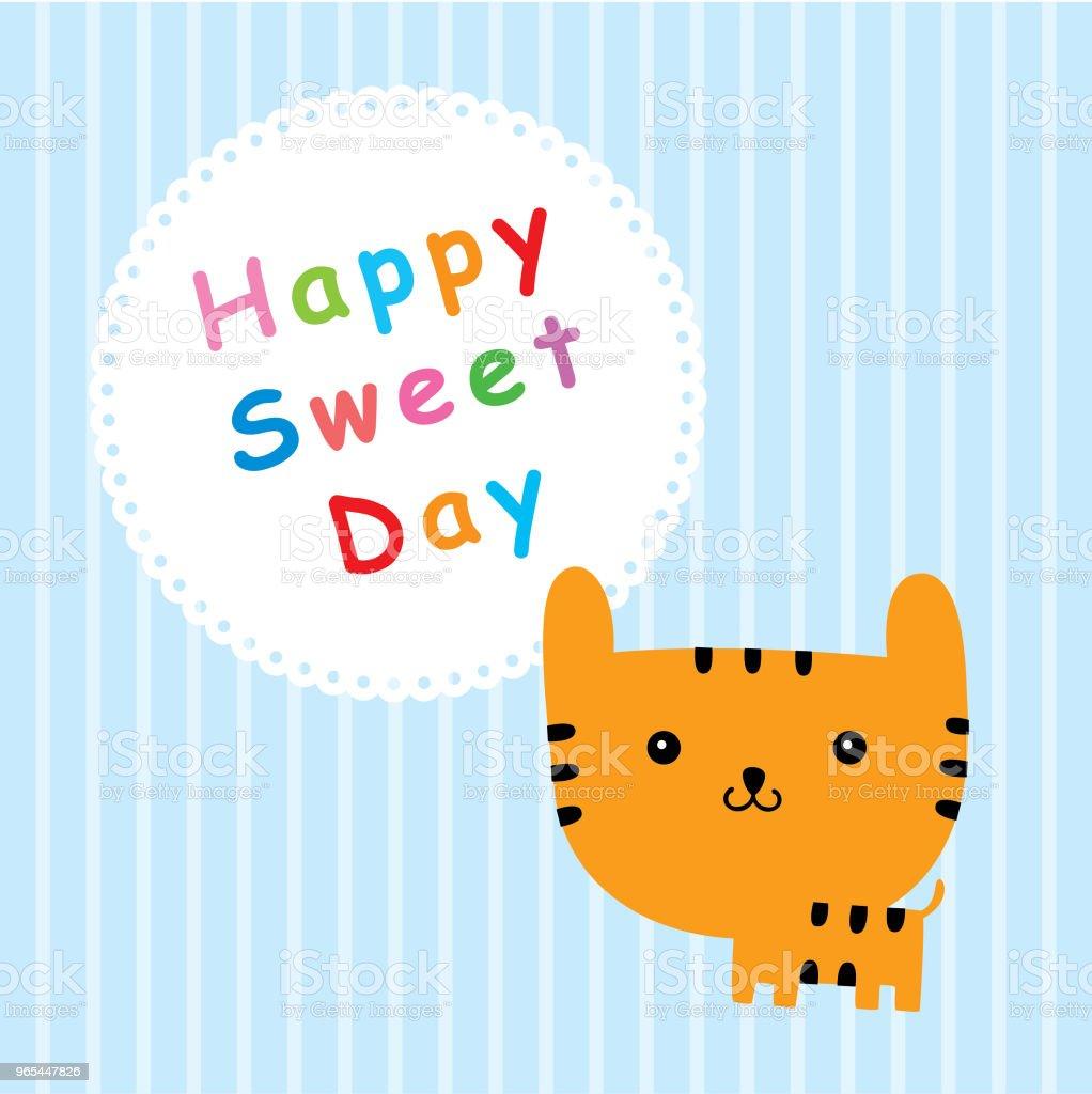 tiger happy sweet day tiger happy sweet day - stockowe grafiki wektorowe i więcej obrazów baby shower royalty-free