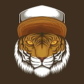 tiger Hat vector illustration for your company or brand
