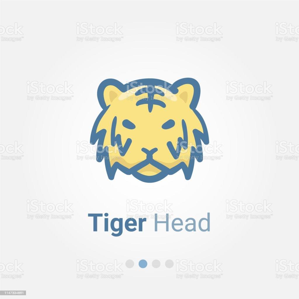 Tiger Head avatar vector icon