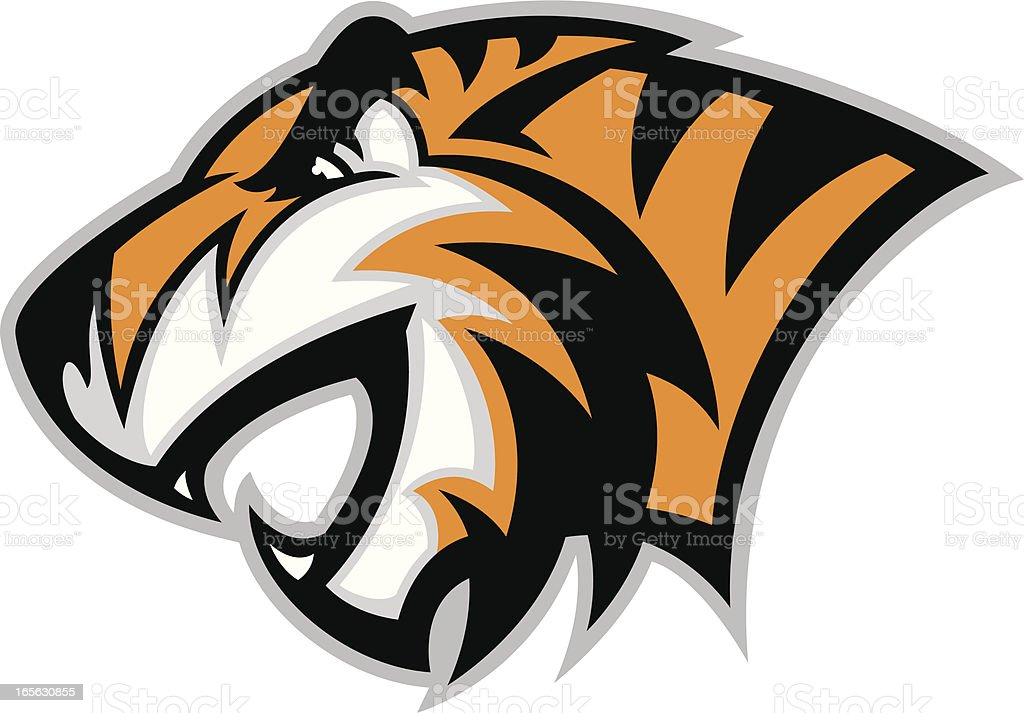 Tiger Head profile II royalty-free tiger head profile ii stock vector art & more images of aggression