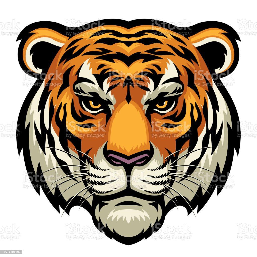 tiger head vector art illustration