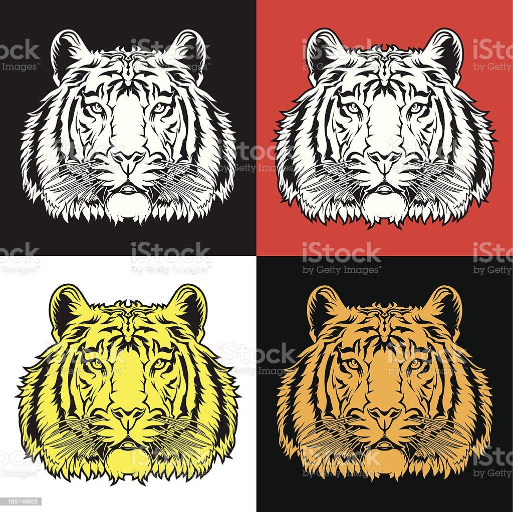 tiger head vector art illustration