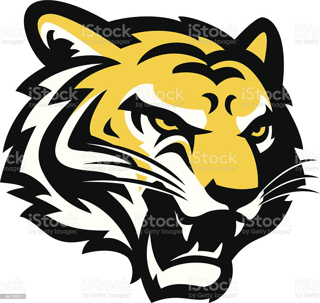 royalty free tiger clip art  vector images   illustrations tiger head clipart black and white tiger head clipart black and white