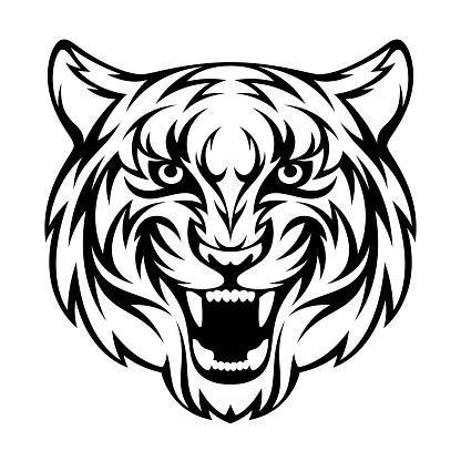 Tête De Tigre Vecteurs libres de droits et plus d'images vectorielles de Afrique