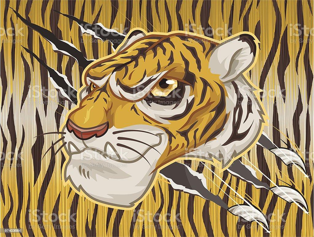 Tiger Head royalty-free stock vector art