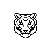 istock tiger head vector on white background 1282766248