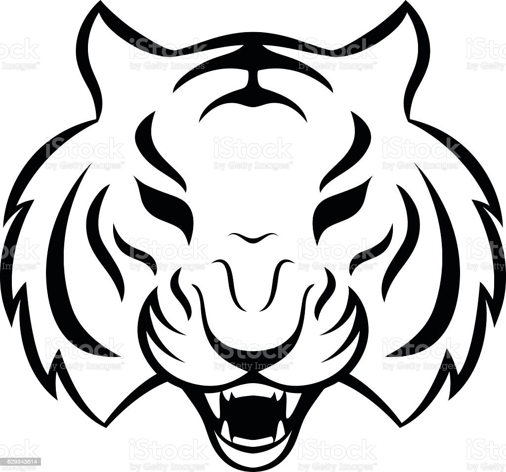 cb83d8335f6c8 Tiger icon, logo isolated on a white background. royalty-free tiger icon  logo