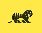 vector illustration of tiger icon