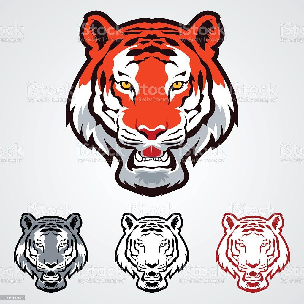 Iconos de tigre - ilustración de arte vectorial
