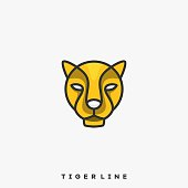 Tiger Illustration Vector Template. Suitable for Creative Industry, Multimedia, entertainment, Educations, Shop, and any related business.