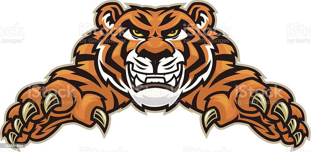 Tiger Leap vector art illustration