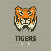 Tigers - logo, sport icon illustration