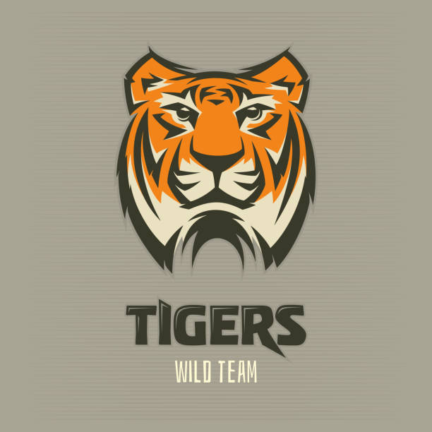 illustrations, cliparts, dessins animés et icônes de tigre - logo, icône, illustration - tigre