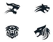 Tiger logo template vector icon design