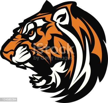 istock Tiger Mascot Graphic 124585284