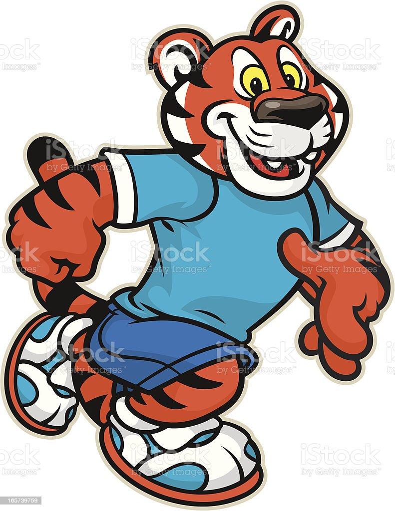 Tiger Mascot Kid royalty-free stock vector art